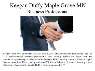 Keegan Duffy Maple Grove MN - Business Professional