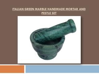 Italian Green MMarble Handmade Mortar and Pestle set