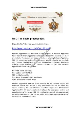 Network Appliance NS0-156 exam practice test