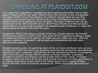 Gambling at Playdoit.com
