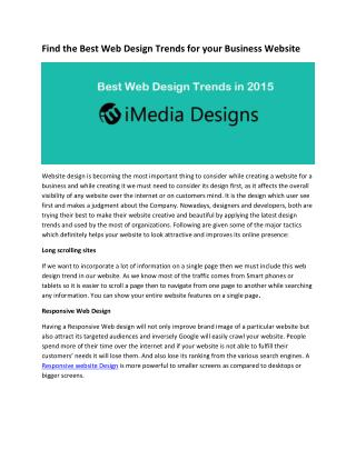 Find the Best Website Design Trends for Your Business Website