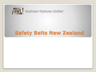 Safety belts New Zealand