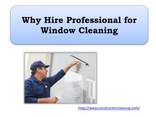 Why Hire Professional for Window Cleaning