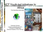ICT Youth-led initiatives In Africa