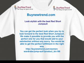 Look stylish with the best Red Short Jumpsuit