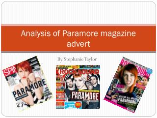 Analysis of paramore magazine