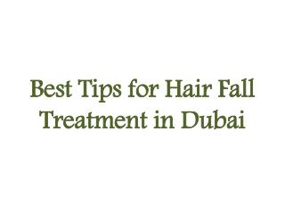 Hair Treatment Solution Dubai