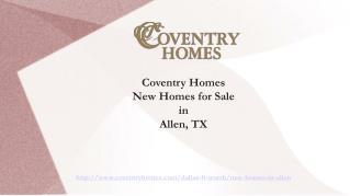 Finest Home Builders in Allen City