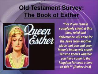 Old Testament Survey:  The Book of Esther