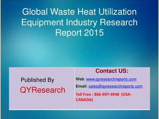 Global Waste Heat Utilization Equipment Market 2015 Industry Size, Shares, Outlook, Research, Study, Development and For
