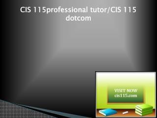 CIS 115 Successful Learning/cis115dotcom