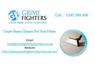 Carpet Steam and Upholstery Cleaning in Melbourne