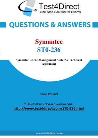 Symantec ST0-236 Test - Updated Demo