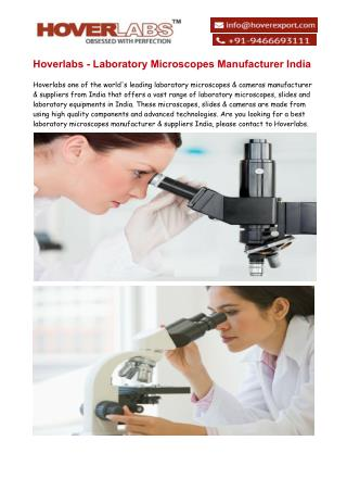 Laboratory Microscopes Exporter & Manufacturers India