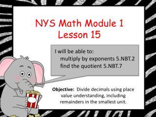 EngageNY grade 5 module 1 lesson 15