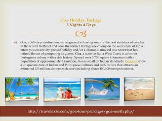 Goa Holiday Package 03 Nights / 04 Days