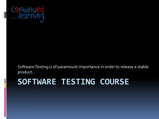 software testing course | software testing training pune