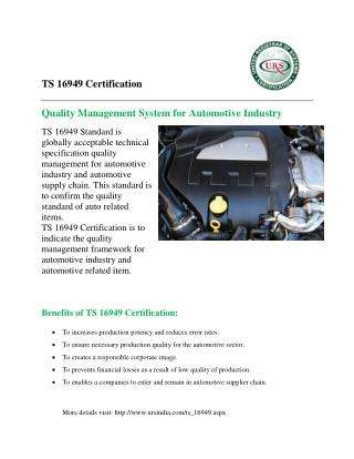 TS 16949 Certification by URS