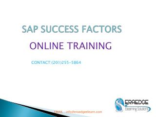 SAP SUCCESSFACTORS Online Training by Eraedgeelearn