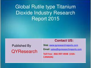 Global Rutile type Titanium Dioxide Market 2015 Industry Size, Shares, Outlook, Research, Study, Development and Forecas