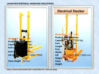 LAUNCHER MATERIAL HANDLING INDUSTRIES.