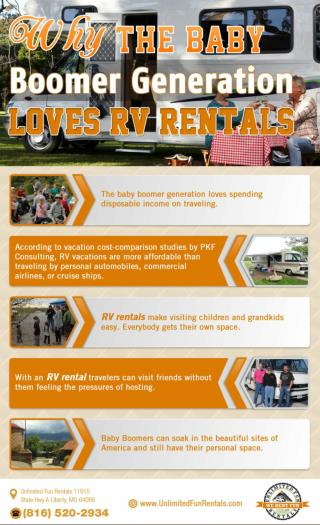 Baby Boomers Love To Travel, And RV Rentals Are Top Choice