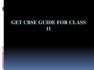 Best CBSE Guide for Class 11