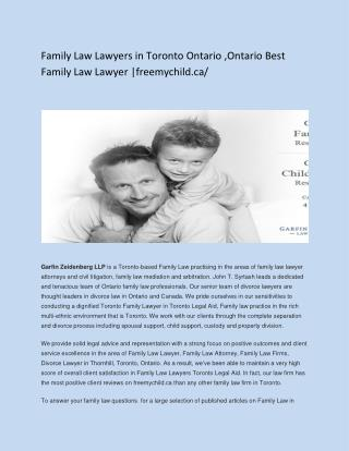 Family Law Lawyers in Toronto Ontario ,Ontario Best Family Law Lawyer _freemychild.ca