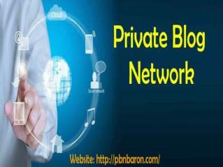 Private Blog Network - way to get more publicity