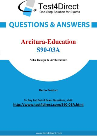 Arcitura Education S90-03A Certified SOA Java Developer Exam Questions