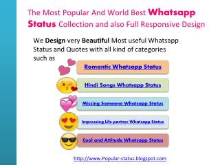 Widely Used Whatsapp Status and Quotes With All Categories