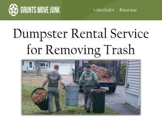 Dumpster Rental Service for Removing Trash