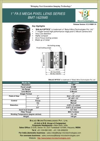 BALAJI OPTICS | MACHINE VISION LENSES |MACHINE VISION