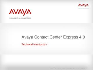 Avaya Contact Center Express 4.0
