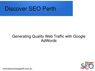 Google AdWords Service Offer by Discover SEO Perth