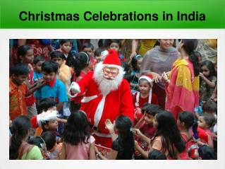christmas celebrations in India