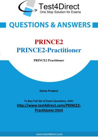 PRINCE2 Practitioner Real Exam Questions