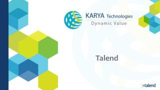 KARYA Technologies Partners with Talend to provide  Integration Solutions