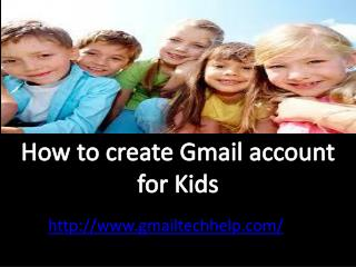 How to create Gmail account for kids