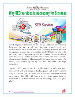 Why SEO services is necessary for Business