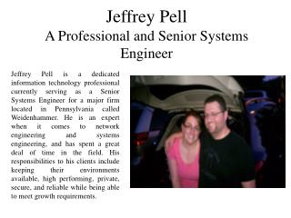 A Professional and Senior Systems Engineer