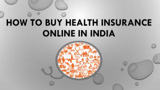 How to Buy Health Insurance Online in India