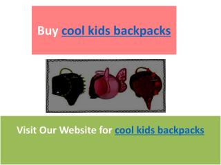 cool kids backpacks