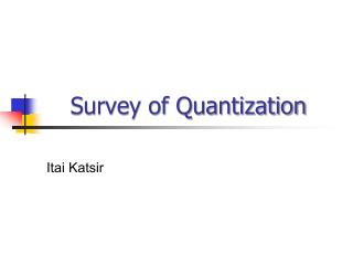 Survey of Quantization