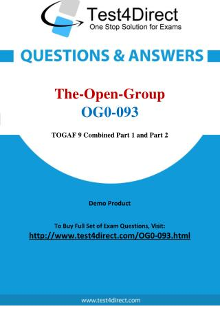 The Open Group OG0-093 TOGAF 9 Real Exam Questions