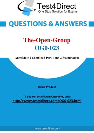 The Open Group OG0-023 Exam - Updated Questions
