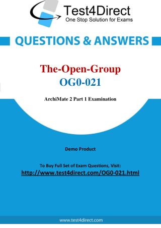 The Open Group OG0-021 Exam - Updated Questions