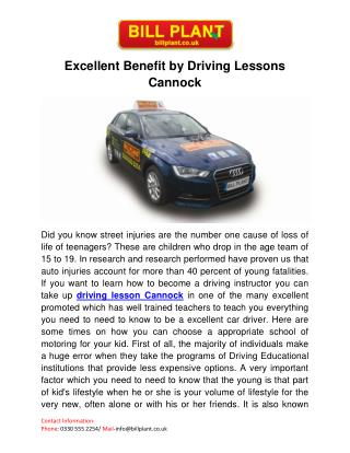 Driving Lessons Cannock