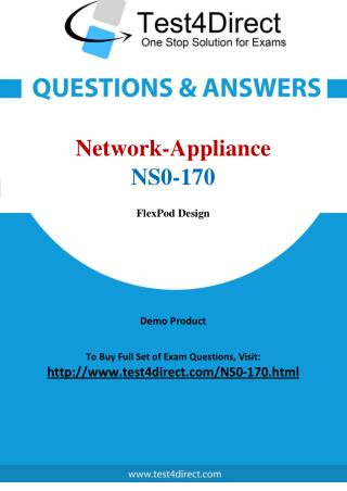 Network Appliance NS0-170 FlexPod Specialist Real Exam Questions