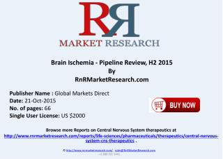 Brain Ischemia Pipeline Review H2 2015